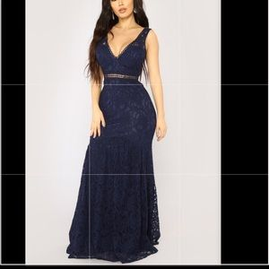Navy blue lace dress NEW